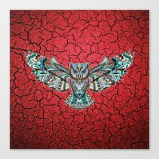 Colorful Owl Pattern Canvas Print