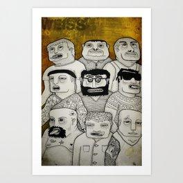Los cabeza de cubo Art Print
