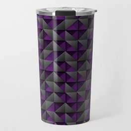 Tech Mosaic Purple Travel Mug