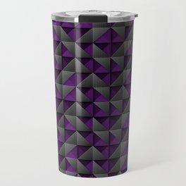 Tech Mosaic Purple Travel Mug