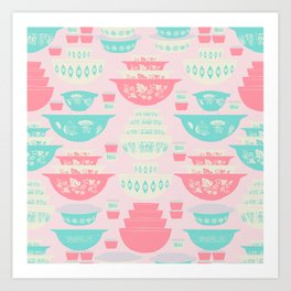Pink and Turquoise Everything Art Print