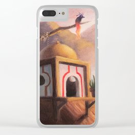 The Guardian of the Ember's Watchtower Clear iPhone Case
