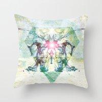 rorschach Throw Pillows featuring Rorschach by not a name