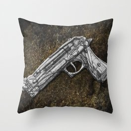 """Weapons Of Mass Construction - Gun Filled With """"Creativity-Tools"""" Throw Pillow"""