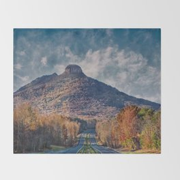 Pilot Mountain Throw Blanket