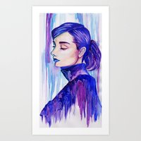 audrey hepburn Art Prints featuring Audrey Hepburn by VivianLohArts