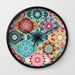 Bohemian summer Wall Clock
