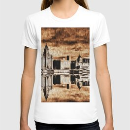 Liverpool Water front Skyline (Digital Art) T-shirt