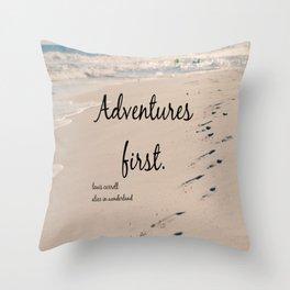 Adventures Alice Wonderland Throw Pillow