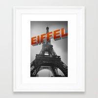 eiffel Framed Art Prints featuring Eiffel by Vin Zzep