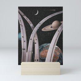 Space traffic Mini Art Print