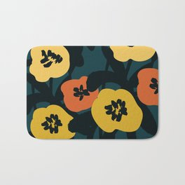 Midnight Flowers Bath Mat