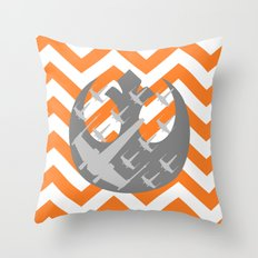 Star Wars Wraith Squadron and Chevrons Throw Pillow