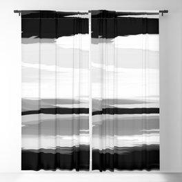 Soft Determination Black & White Blackout Curtain