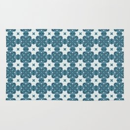 Abstract Moth - Blue Rug