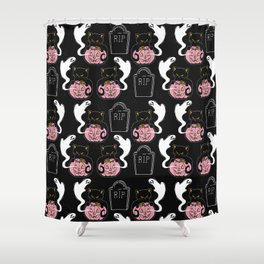 Grave Kitten Shower Curtain