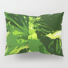 Green Leafes Abstract Pillow Sham