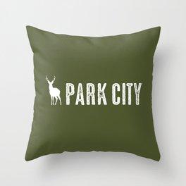 Utah: Park City Deer Throw Pillow