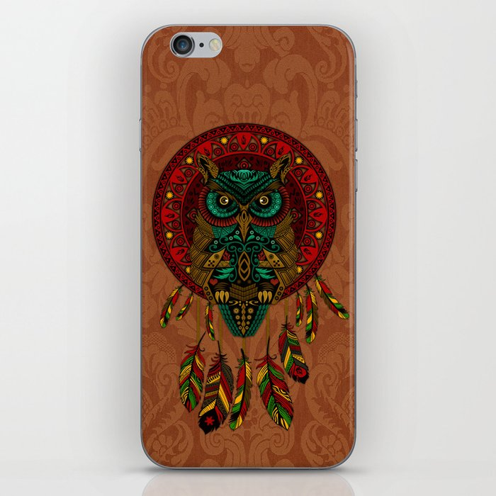Colorful Dreamcatcher Owl Aztec Pattern iPhone Skin