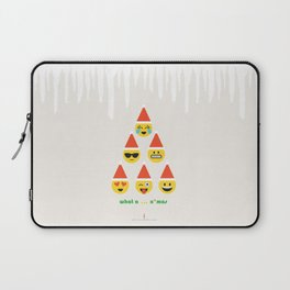 Emoji: What a ... x'mas (Six Pack) Laptop Sleeve