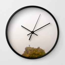 The edge of the world Wall Clock
