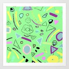 80's pattern  Art Print