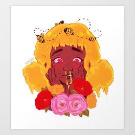 Nosebleed - Flower Girl Series Art Print