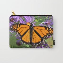 Monarch Butterfly on Wild Asters (square) Carry-All Pouch