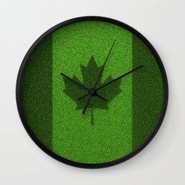 Grass flag Canada / 3D render of Canadian flag grown from grass Wall Clock