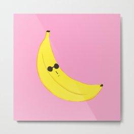 Shady Banana Metal Print