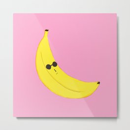 Shady Banana Metal Print