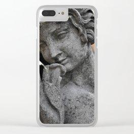 Beautiful Statue Clear iPhone Case