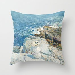 Childe Hassam - The South Ledges, Appledore, 1913 Throw Pillow