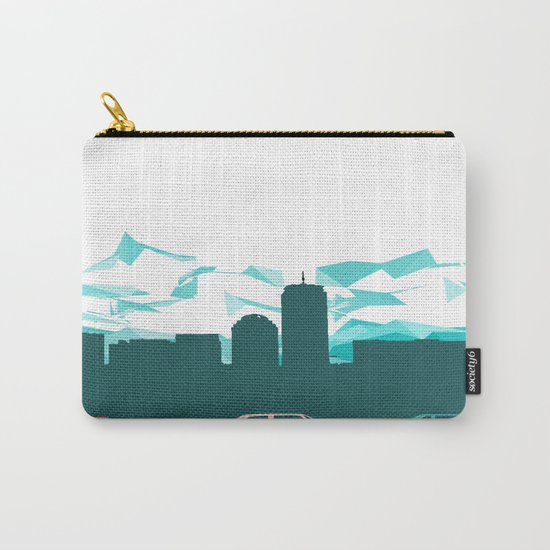 City, mountain and cars Carry-All Pouch