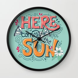 Here Comes The Sun 001 Wall Clock