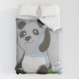 Panda in my FILLings Duvet Cover