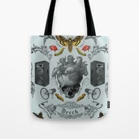 rorschach Tote Bags featuring Rorschach by Dreck Design