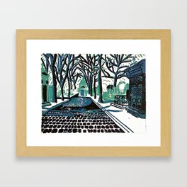 Where do all the Lonely People Go? Framed Art Print
