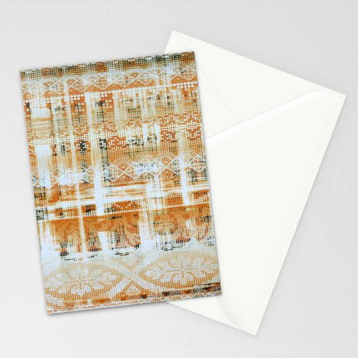 needlepoint sampler in sunny rays Stationery Cards