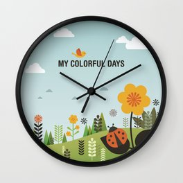 My Colorful Days Wall Clock