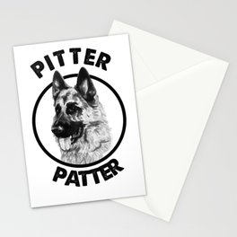 Pitter Patter German Shepherd Dog Funny Stationery Cards