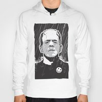 frankenstein Hoodies featuring Frankenstein by Matt Fontaine