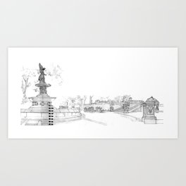 Belvedere Fountain, Central Park, NY Art Print