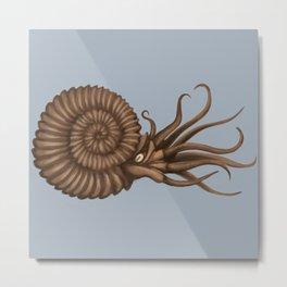 Ammonite Metal Print