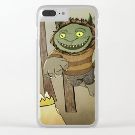 Wild Thing Jumping Clear iPhone Case