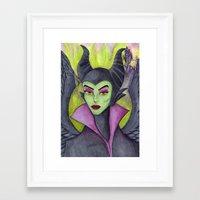 maleficent Framed Art Prints featuring Maleficent by Tanya Davis Art