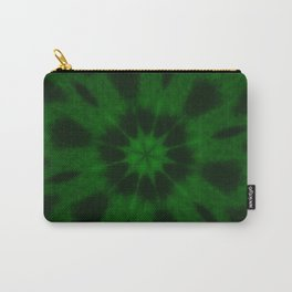 Spotted Leopard Green Kaleidoscope Carry-All Pouch