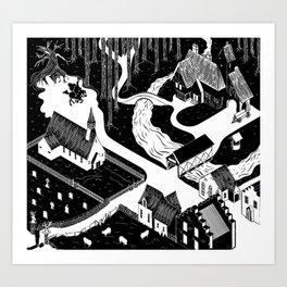 Sleepy Hollow Village (Tim Burton film - 1999) Art Print