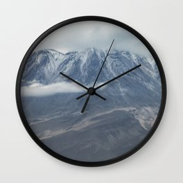 Close up view of volcano Chachani Wall Clock