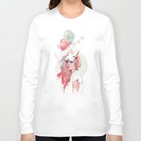 ariana grande Long Sleeve T-shirts featuring Sweet Party by Ariana Perez